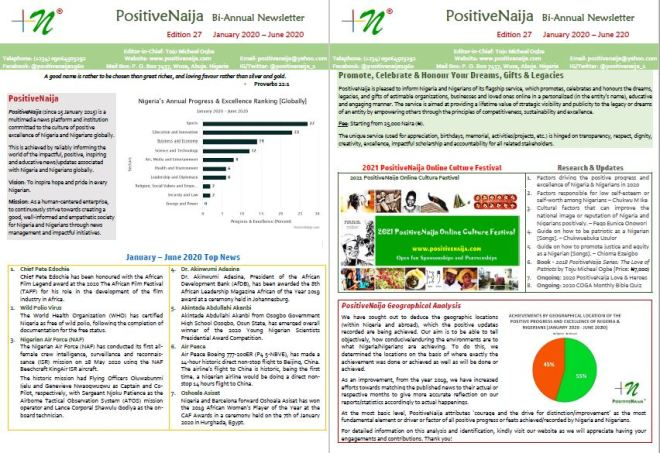 PositiveNaija Newsletter 2020