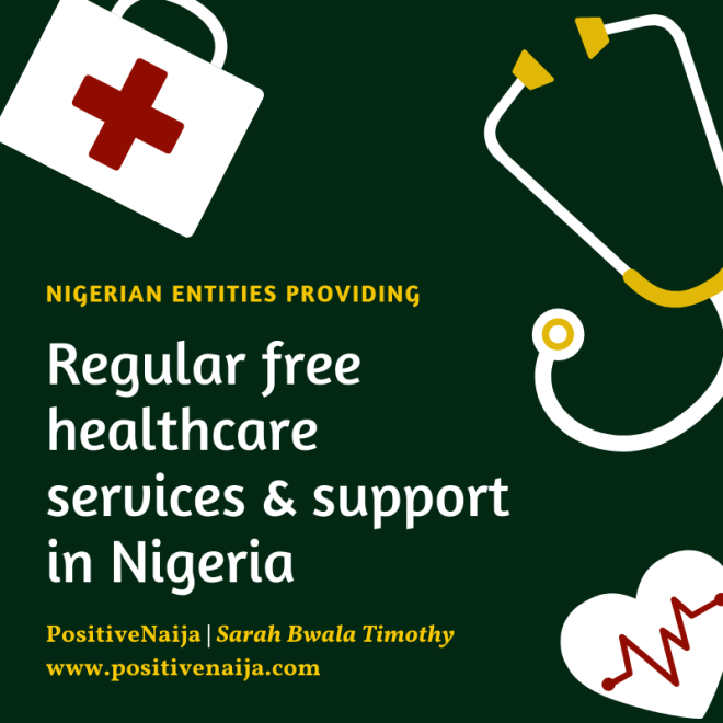 Nigerian Medical Organizations Providing Regular Free Healthcare Services And Support