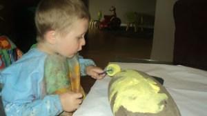 dino egg painting for kids