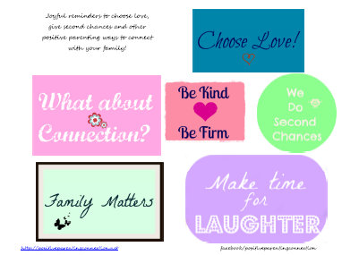 Positive Parenting Reminders: Free Printable!