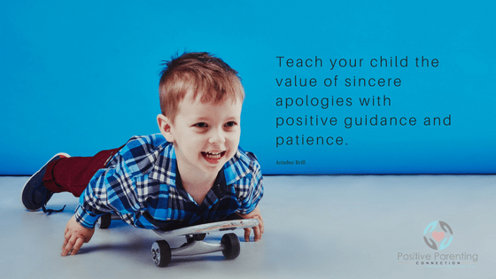 teach your child how to apologize with positive guidance