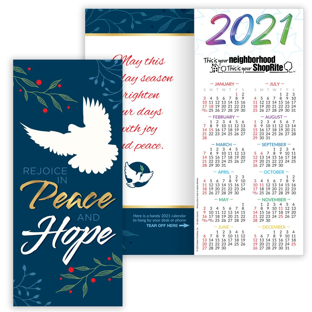 Hope Peace Amp Love 2018 Gold Foil Stamped Holiday Greeting