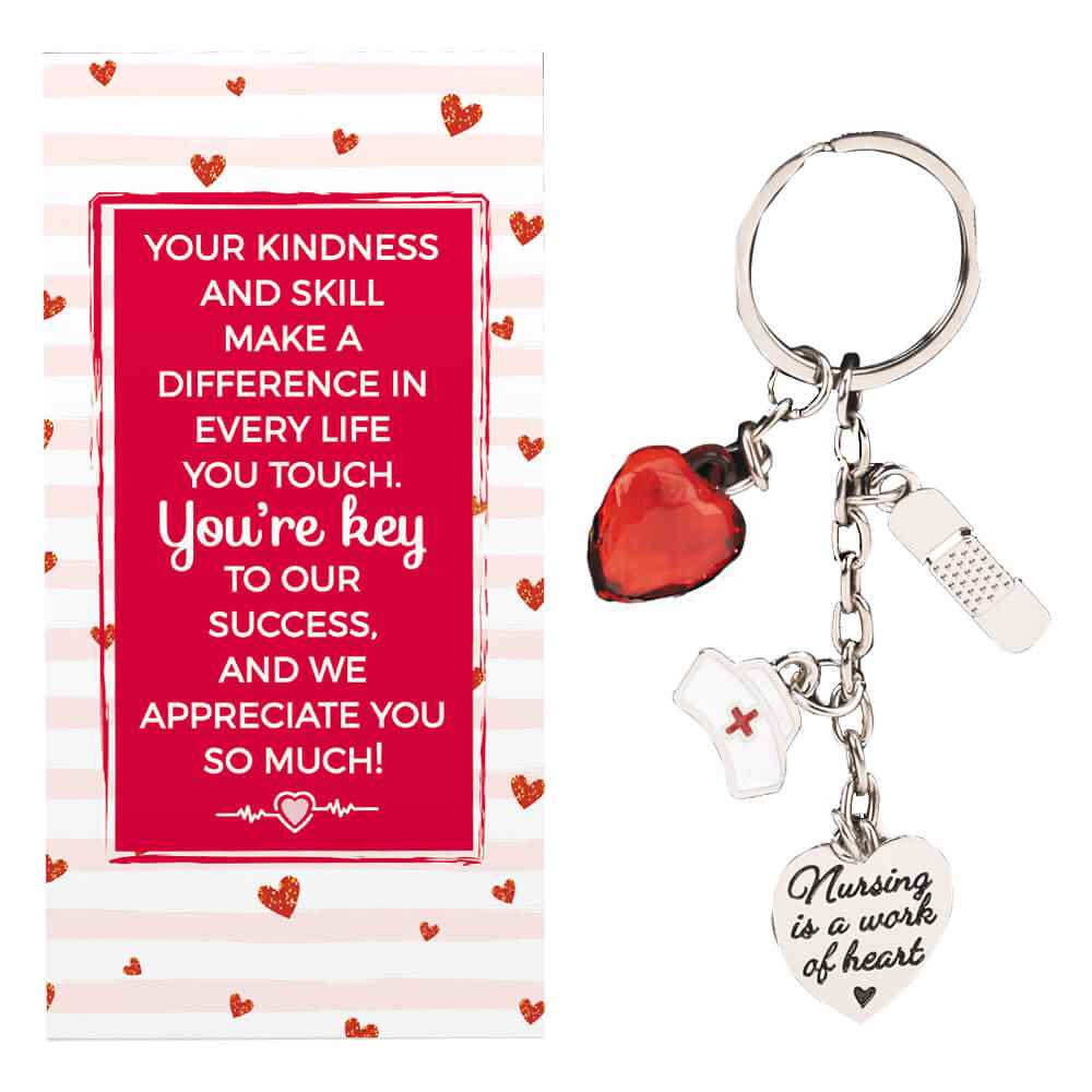 Nursing Charm Key Tag With Keepsake Card Positive Promotions