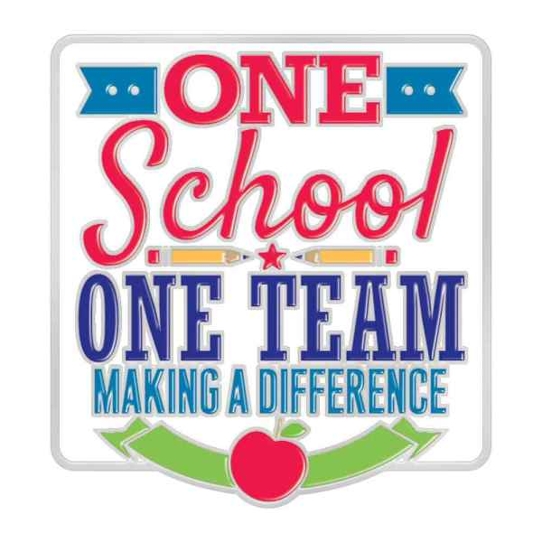 School Team Making Difference Lapel Pin With