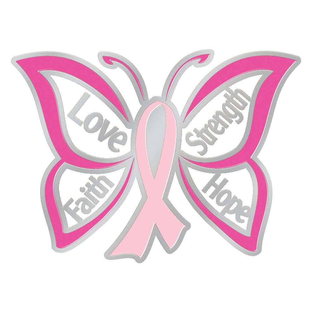 Download Love Faith Strength Hope Butterfly Design Breast Cancer ...