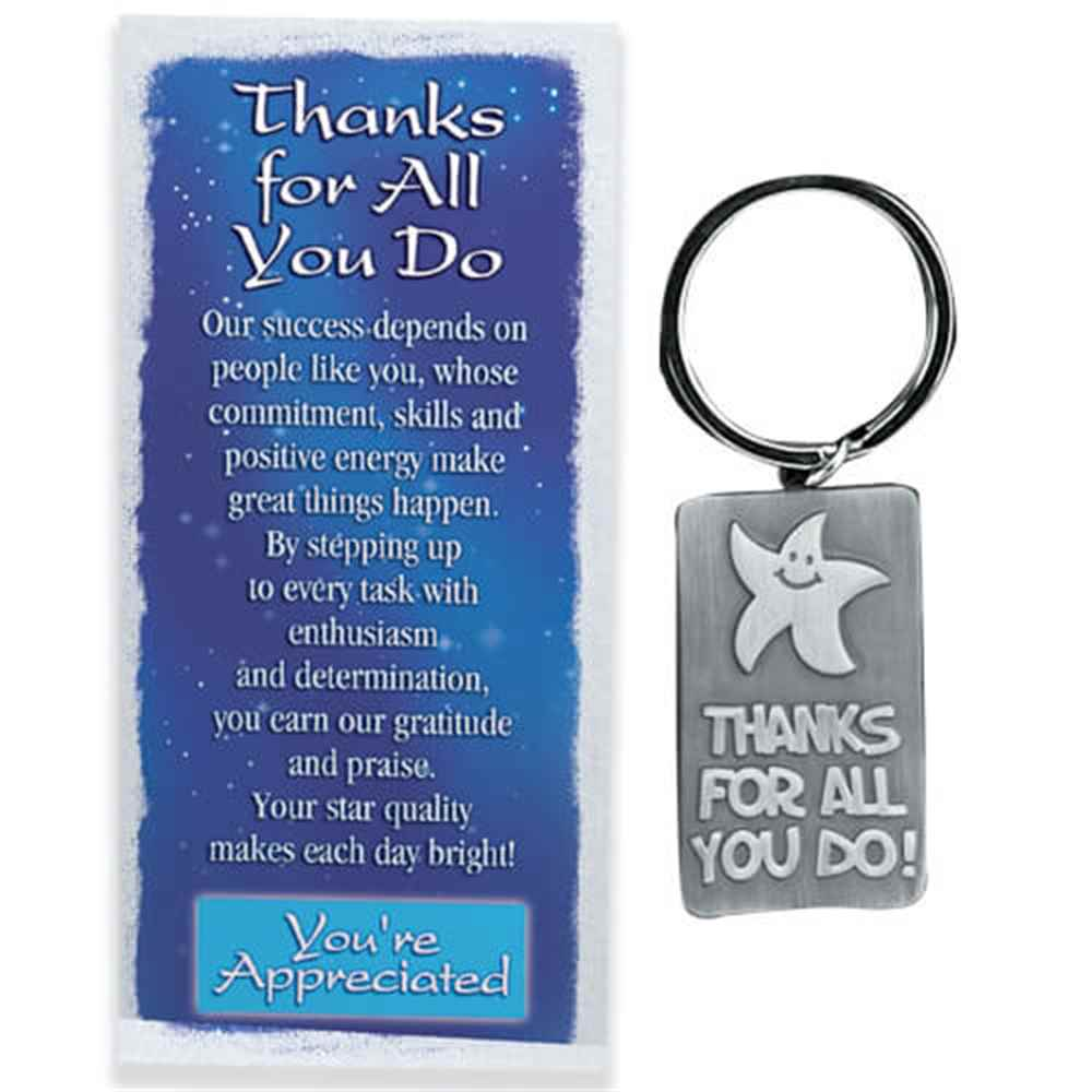 Thanks For All You Do Pewter Key Tag Amp Card With Gift Box
