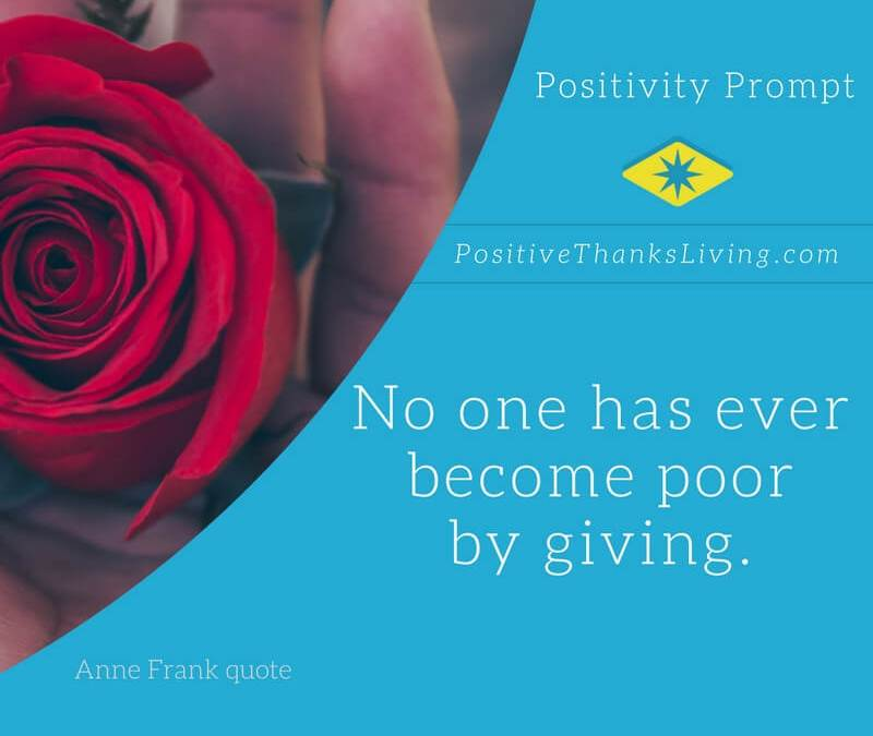 No One Becomes Poor By Giving