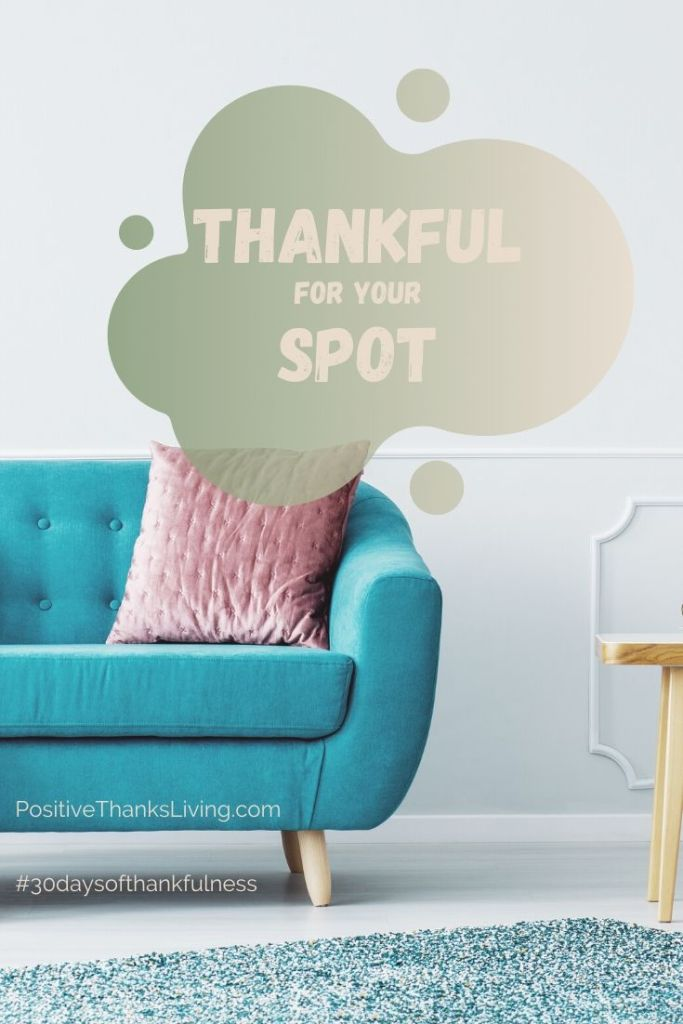 Life can be busy, so having a spot to relax is important. Where's your spot? Be thankful for your spot.