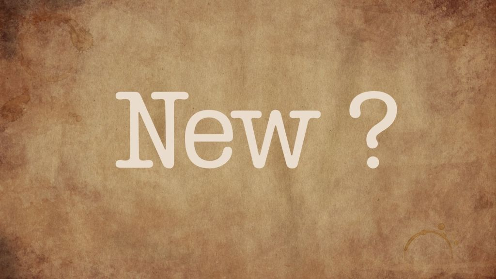 What's new? Maybe we need to consider our perspective. Develop an attitude of gratitude.