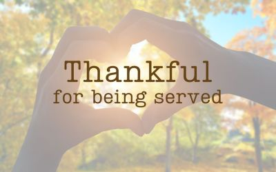 Thankful for being served.