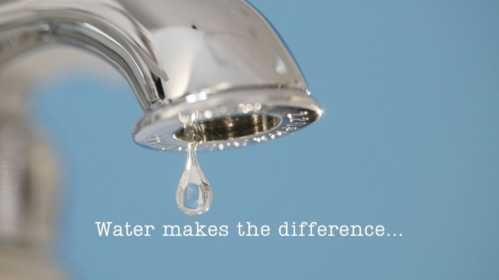 water makes the difference - but so does a giving heart