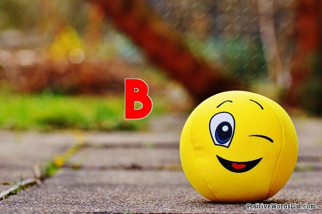 positive b words