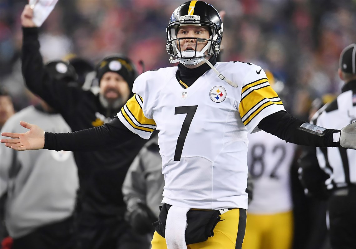 Steelers quarterback Ben Roethlisberger had a frustrating AFC championship game on Sunday.