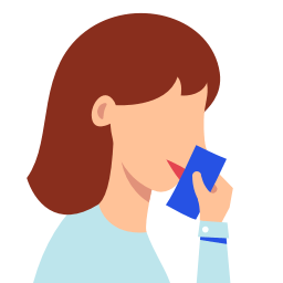 5925234 – close cough mouth tissue