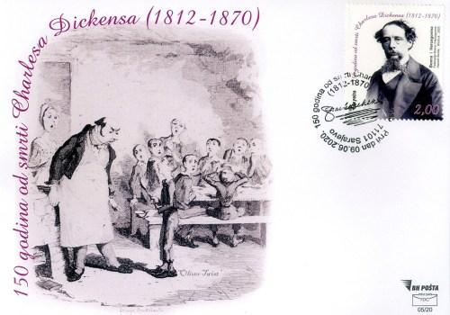 150 Godina Od Smrti -Charles Dickensa (1812 -1870) – FDC