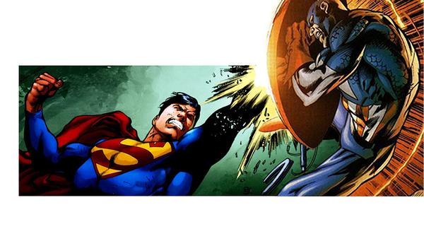 Versus mode: Superman v. Captain America