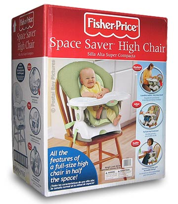 fisher price space saving high chair unfinished dining chairs with upholstered seats saver infant to toddler
