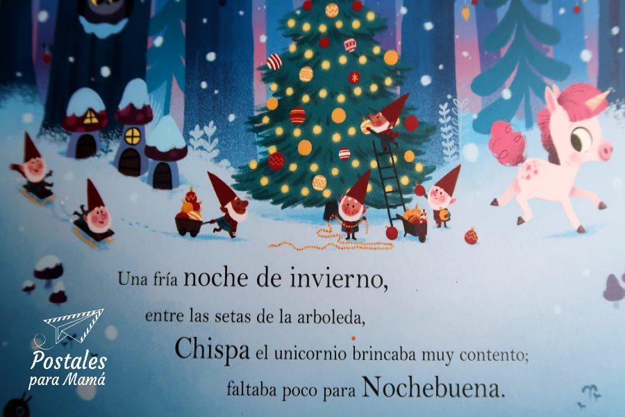 Unicornio Navidad - Postales para Mamá