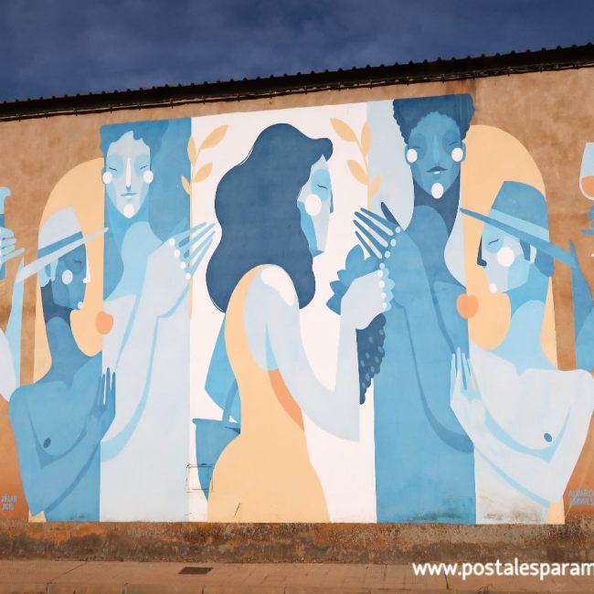 Ruta pinturas murales Alfamén - Postales para Mamá
