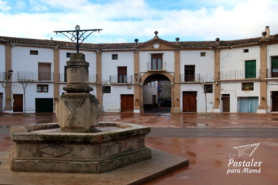 Fuente plaza Chodes - Postales para Mamá