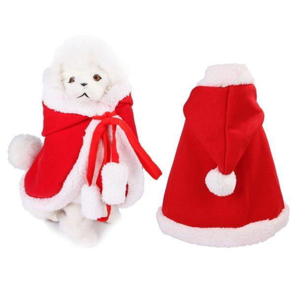 Vianočný kabátik s kapucňou pre domácich miláčikov 5