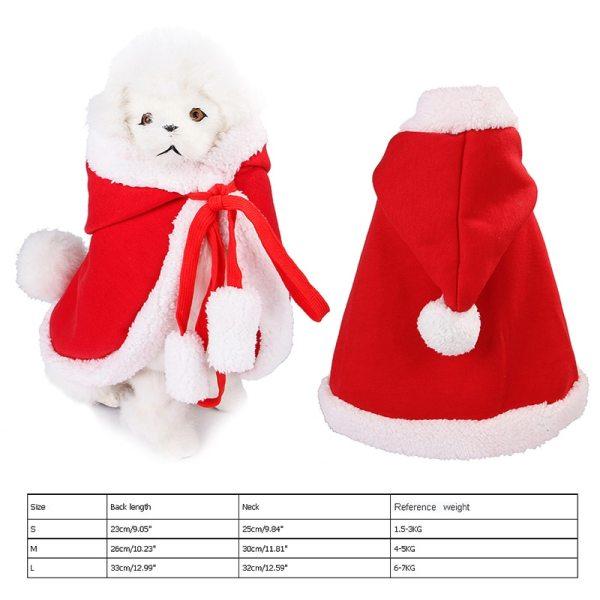 Vianočný kabátik s kapucňou pre domácich miláčikov 6