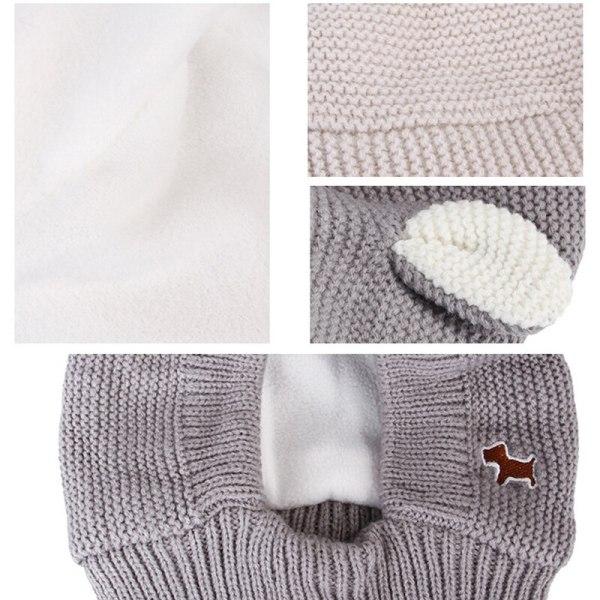Zimná teplá pletená čiapka pre domácich miláčikov 4