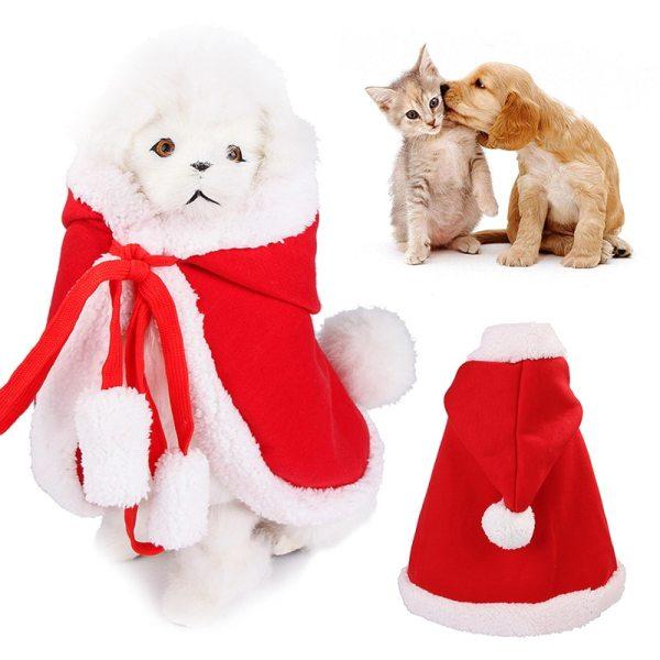 Vianočný kabátik s kapucňou pre domácich miláčikov 4