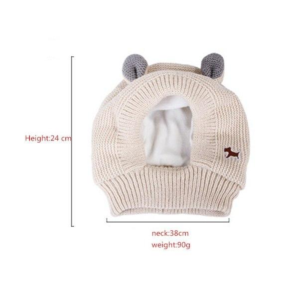 Zimná teplá pletená čiapka pre domácich miláčikov 6