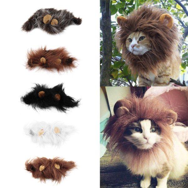 Parochňa pre menšie zviera levia hriva, kostým pre psa aj mačku 13