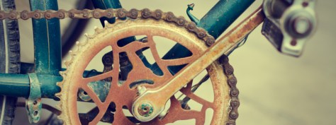 Rusty bike part