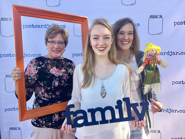 Three generations of women stopped by our photo booth last year for a fun, fall pic.
