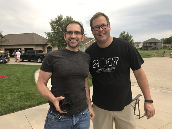 Steve's friend, Scott drove with his family from Wisconsin to see the total solar eclipse.