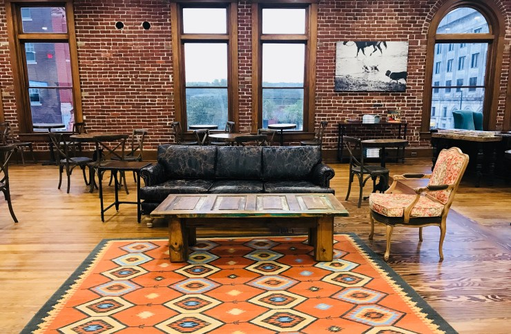 Love this sitting area on the second floor of The Pioneer Woman Mercantile in Pawhuska, Oklahoma.