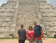 With our daughter, Meghan, at Chichén Itzá in Mexico.