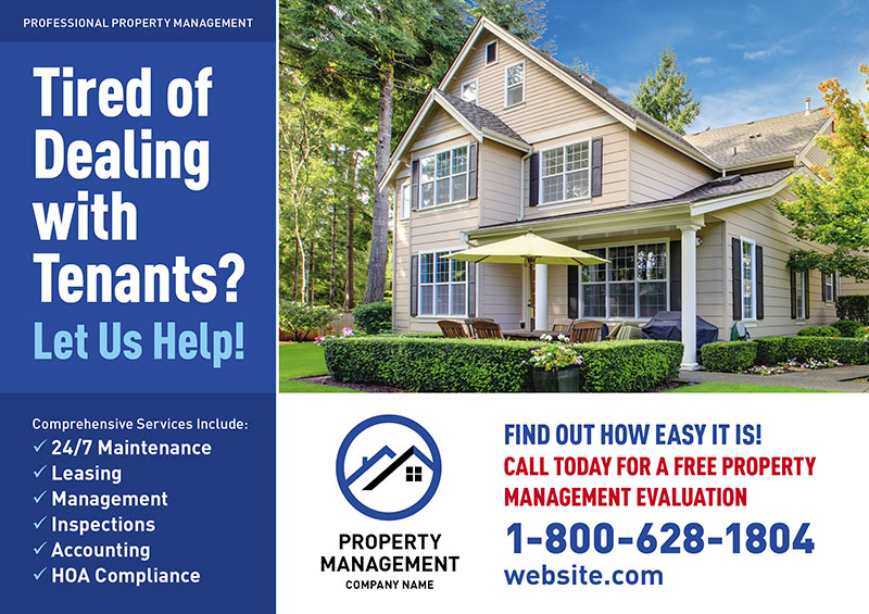 property management postcards