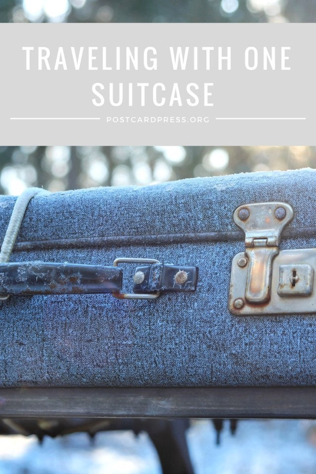 Traveling With One Suitcase Pinterest