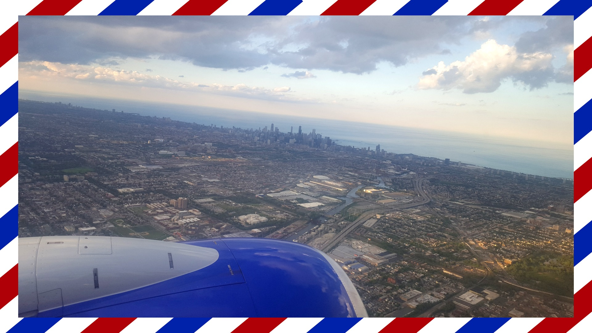 Postcards From Our Travelers: Chicago, IL, Featured Image--Image of city skyline from airplane