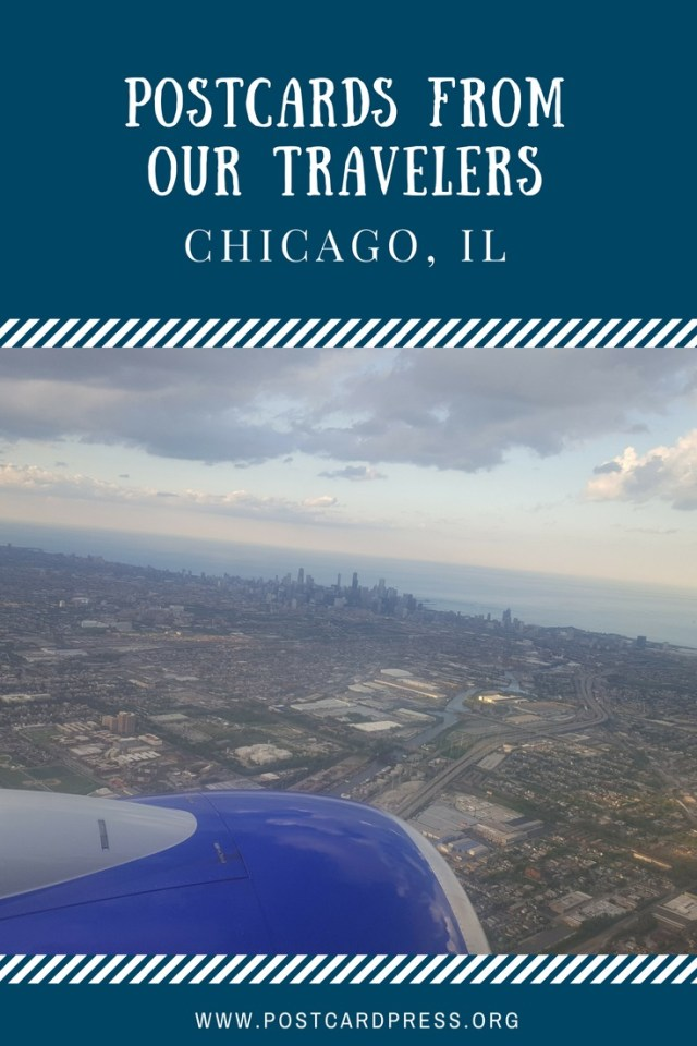 Pinterest Image with view of Chicago from Airplane