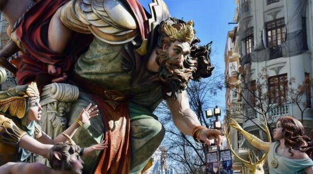 Fallas installation in Valencia, Spain