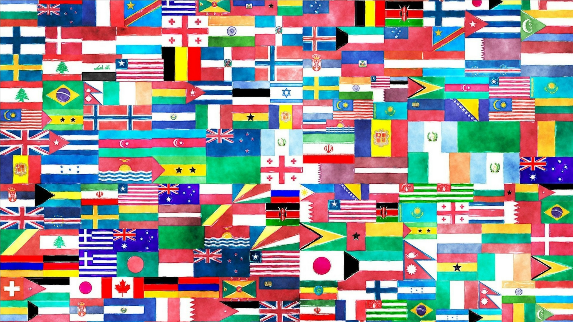 Postcard Press Picks Many People Many Places Featured Image - World Flags