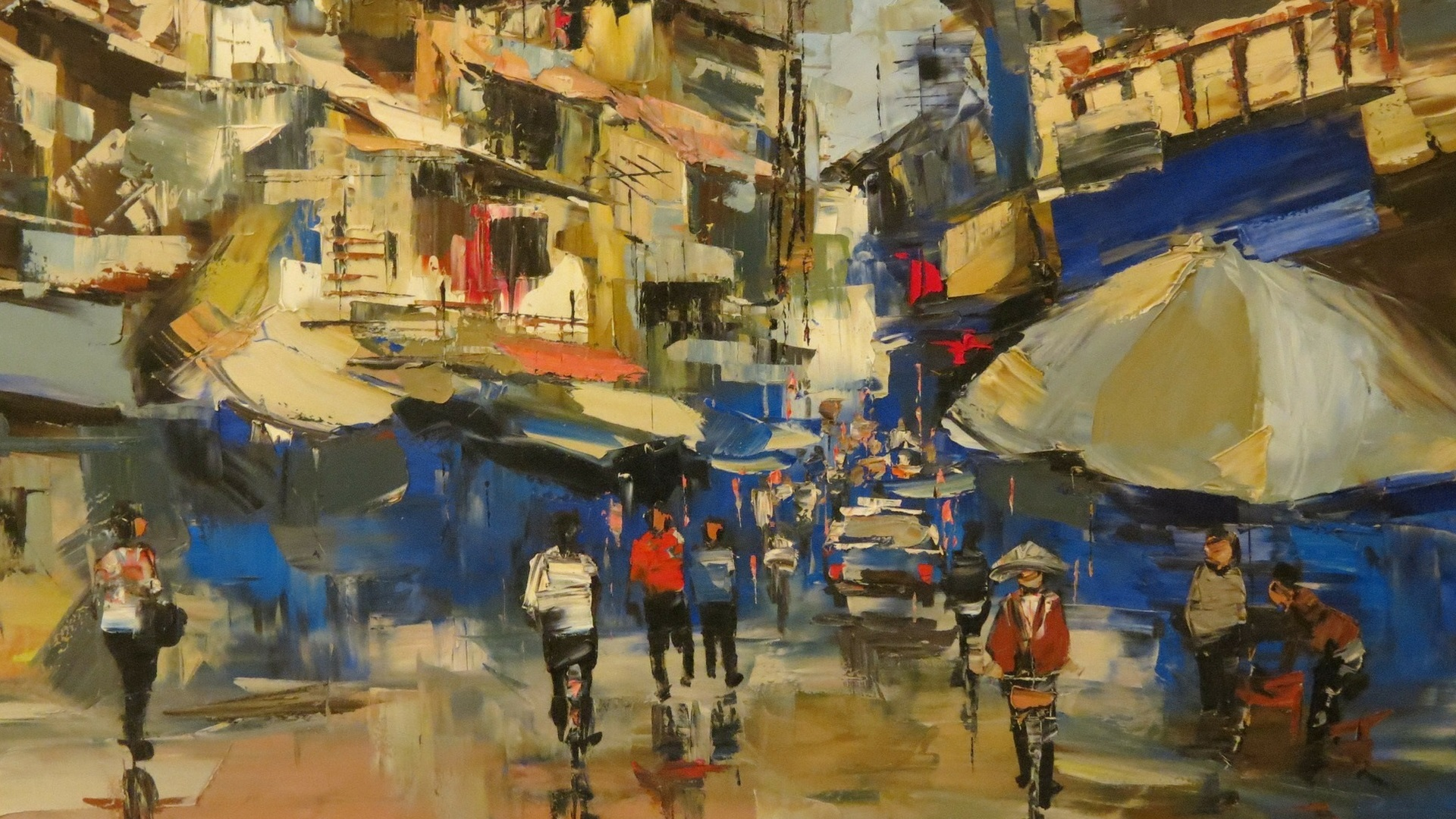 Featured Image - Painting of a Vietnamese Street