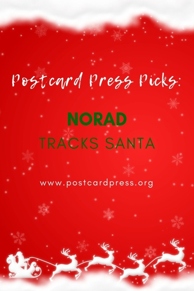 Postcard Press Picks NORAD Tracks Santa Pinterest Image