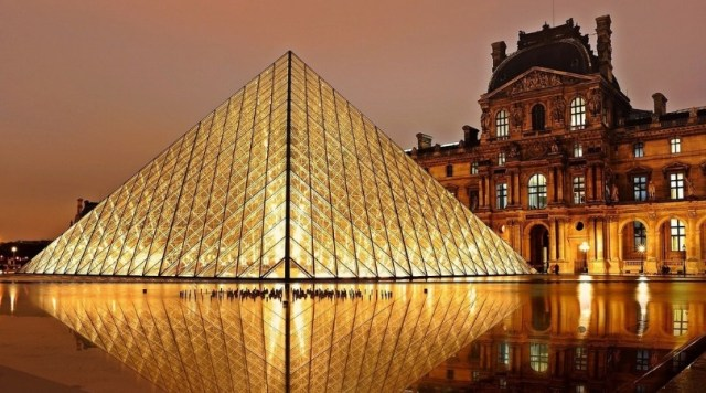 Image of the Louvre Museum and Pyramid, Paris