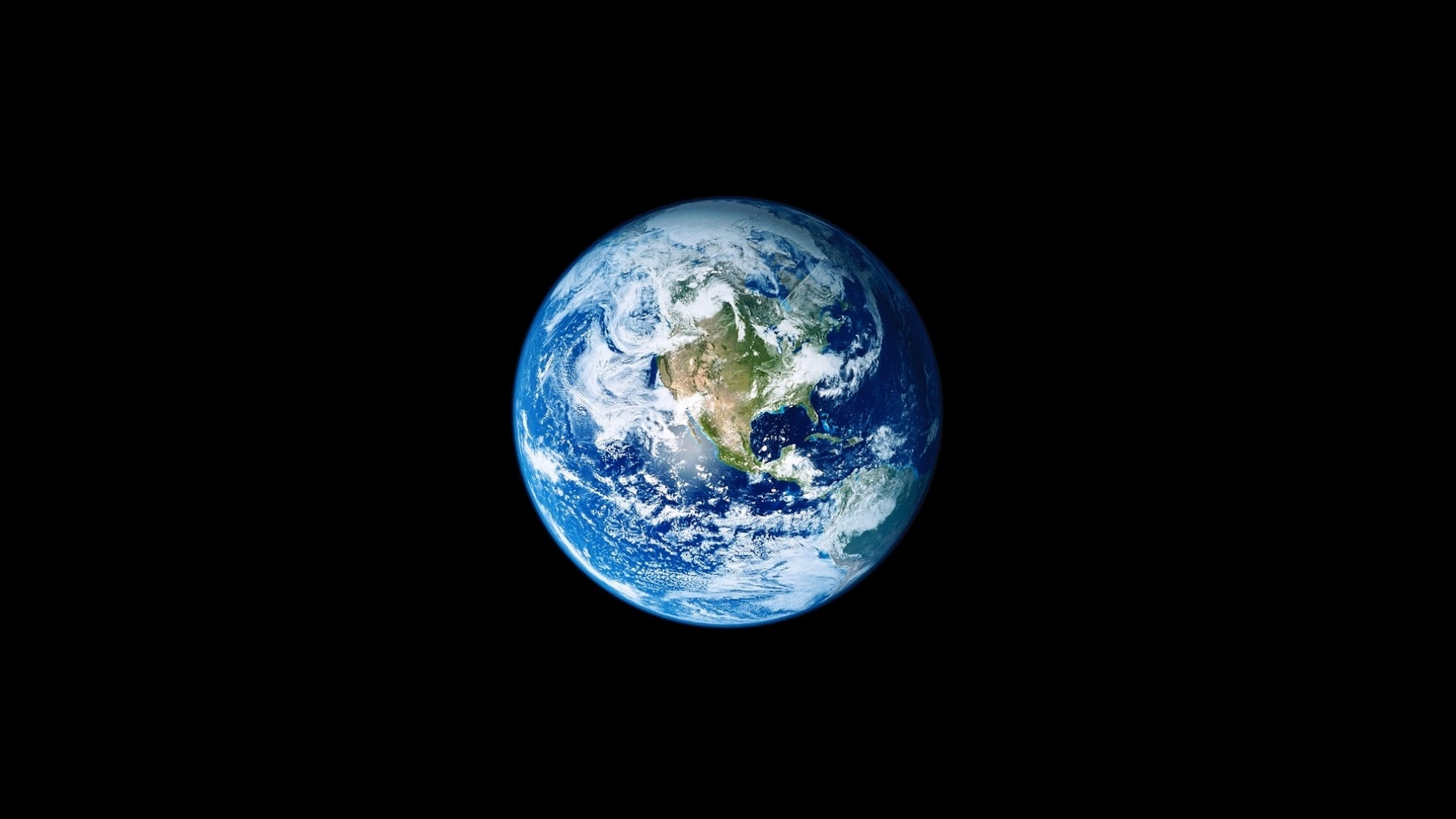 Earth Day Featured Photo: Picture on Earth from space on a black background