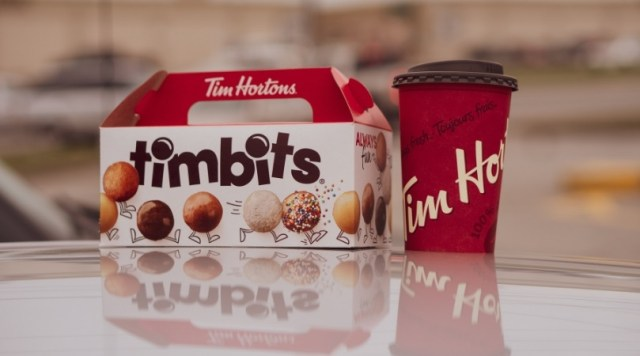 Timbits box and Tim Horton's coffee cub