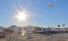 desert parking lot