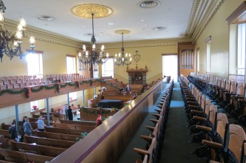Inside the tabernacle