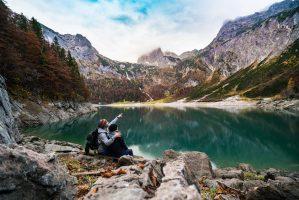 vacation at mountain lake