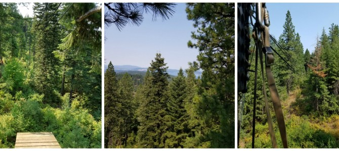 Ziplining with Timberline Adventures in Coeur D'Alene